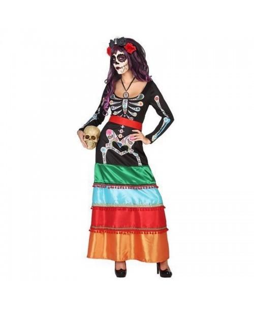 Disfraz de ESQUELETO / CATRINA, HALLOWEEN, para adultos, mujeres - DI1106506-1