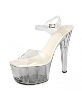 Sandalias de plataforma (tacones 15 cm)